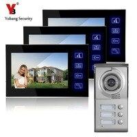 Freies Schiff Villa Videotürsprechanlage Hände Frei Monitor Intercom Türklingel Mehrfamilien Video-türsprech HD Kamera