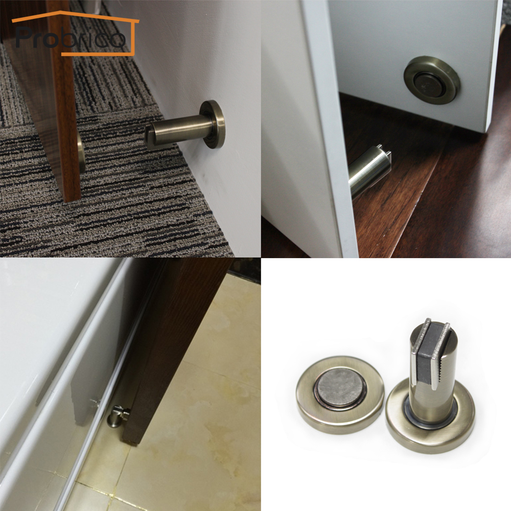 probrico door stop heavy duty dshh101 metal wall mounted door holder floor mounted magnetic door anti collision catch stopperin door stops from home