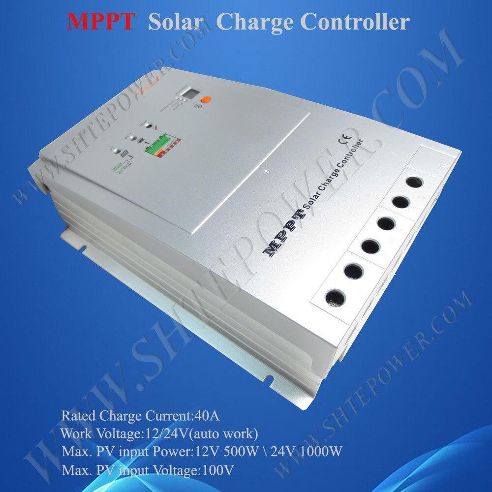 MPPT Solar Panel System Controller 40A 12V/24V auto work, Max 100V input, trace 4210 china hotsale me mppt2440 24v 40a mppt solar system controller price