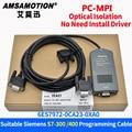 PC-MPI + адаптер для Siemens S7-300/400 PLC 6ES7972-0CA23-0XA0 Кабель для программирования S7-300 S7-400 RS232 к MPI кабель загрузки