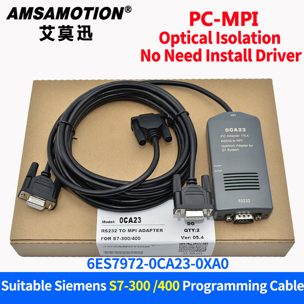 PC-MPI+ Adapter Compatible Siemens S7-300/400 PLC 6ES7972-0CA23-0XA0 Programming Cable S7-300 S7-400 RS232 To MPI Download Cable mool 3m usb mpi programming cable for siemens s7 300 400 simatic