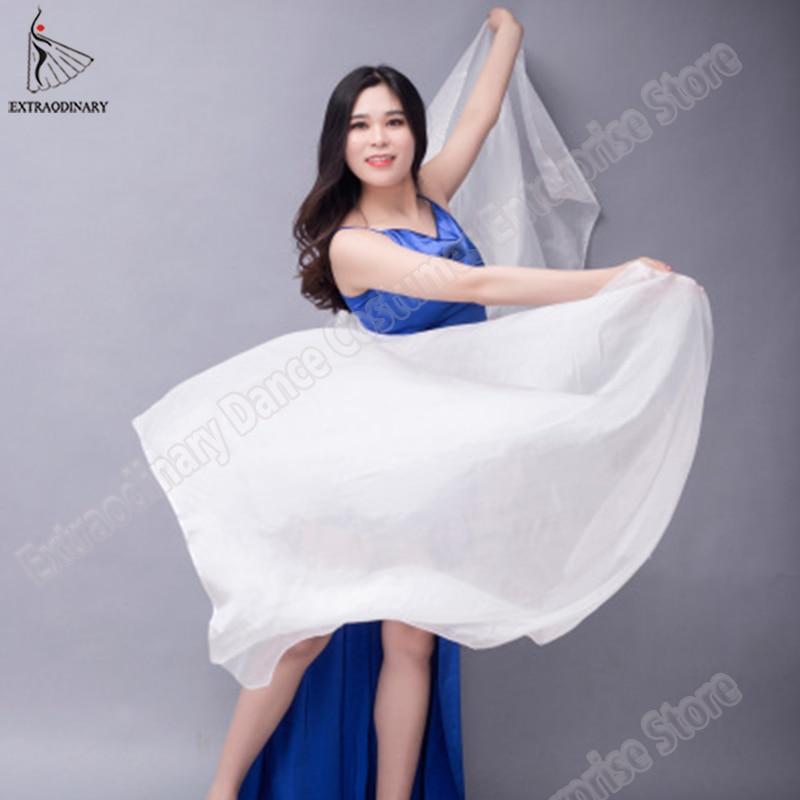 Image 3 - Velo chales para mujer danza del vientre velo de seda textura ligera puesta en escena bufanda de mano accesorios de disfraces 250cm 270cmDanza del vientre   -