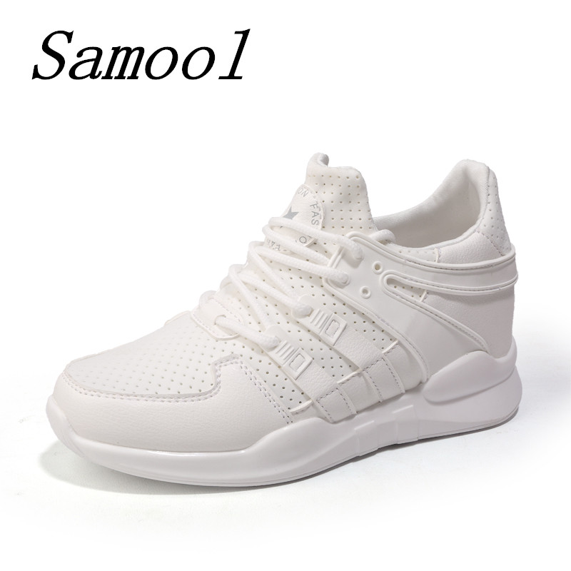 Woman Suede Breathable Outdoor Shoes Female Shoes women sneakers Lace Up Comfortable Shoe Women Causal Inside Heighte Shoes jx3