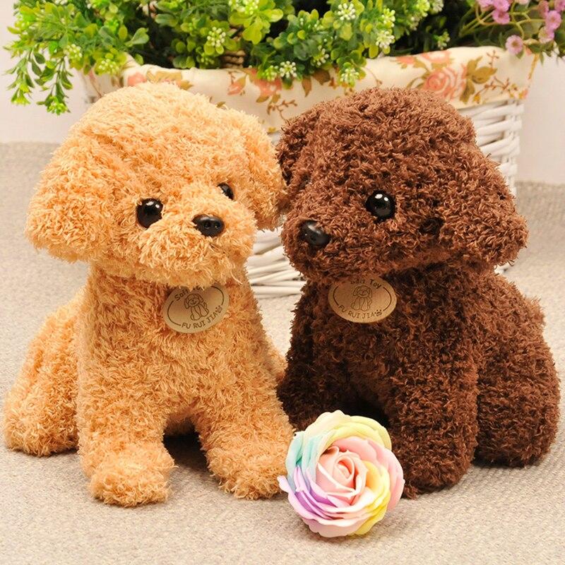 Stuffed e Plush Animais encaracolados cães de pelúcia bicho Size : 20cm Altura Teddy Dog