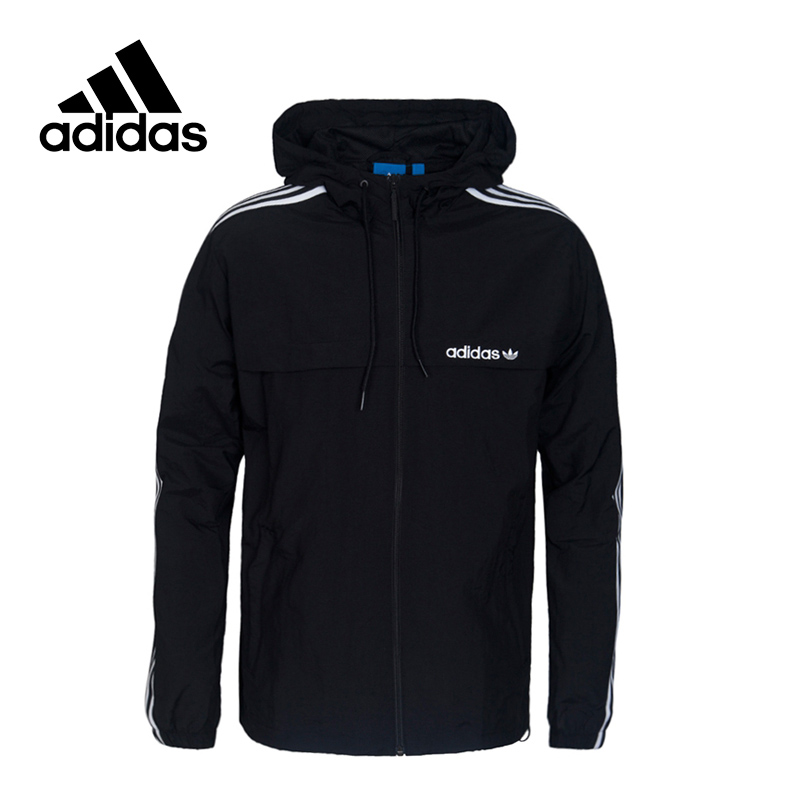 Original New Arrival Official Adidas Originals 3STRIPED WB Men's Jacket Hooded Sportswear adidas new arrival official ess 3s crew men s jacket breathable pullover sportswear bq9645