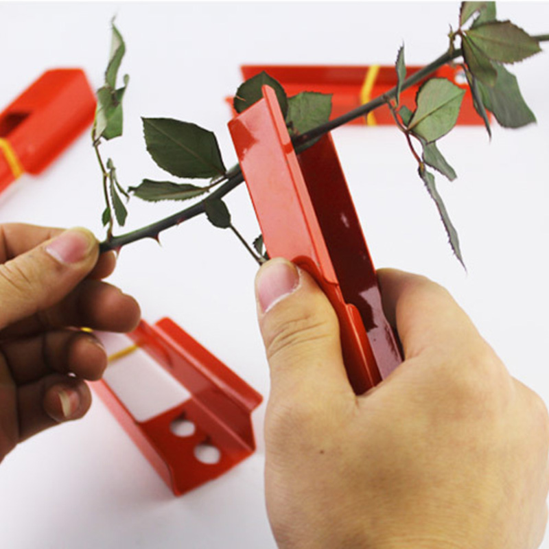 1pcs DIY Cut Tool Florist Metal Garden Flower Rose Thorn Stem Leaf Stripper Rose Plier Removing Burrs Garden Tool