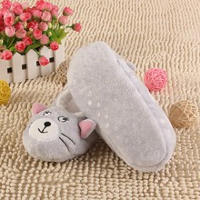 Women Indoor Floor Slippers/Shoes Animal Shape White Gray Cows