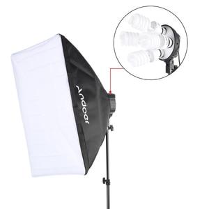 Image 2 - Andoer סטודיו תמונה תאורת ערכת עם 2 Softbox 2 4in1 הנורה שקע 8 45W הנורה 2 אור Stand 1 נשיאת תיק