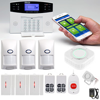 Wireless Home Security GSM Alarm System Intercom Remote Control Autodial Siren Sensor Kit LCC77