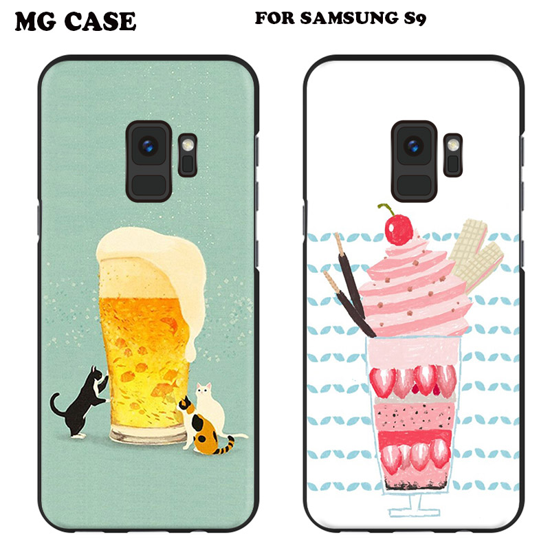 Cute Drink Beer Icecream Case For Samsung Galaxy Note8 S6edge S7 edge S8 S9 PLUS Pineapple Shell CASE For SAMSUNG S8 Plus S9 S9+
