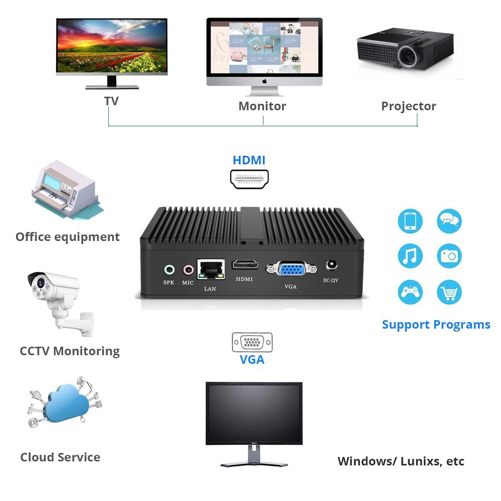 4k Mini Pc Intel Celeron 3965u Hd Graphics 610 Windows 10 Hdmi Vga Wifi Fanless Micro Desktop Pc Tv Box #4
