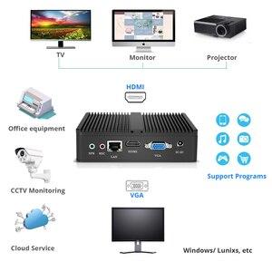 Image 2 - 미니 PC 인텔 펜티엄 4405U Windows 10 DDR3L RAM mSATA SSD HDMI VGA 6xUSB 300Mbps WiFi 기가비트 이더넷 NUC HTPC 팬리스