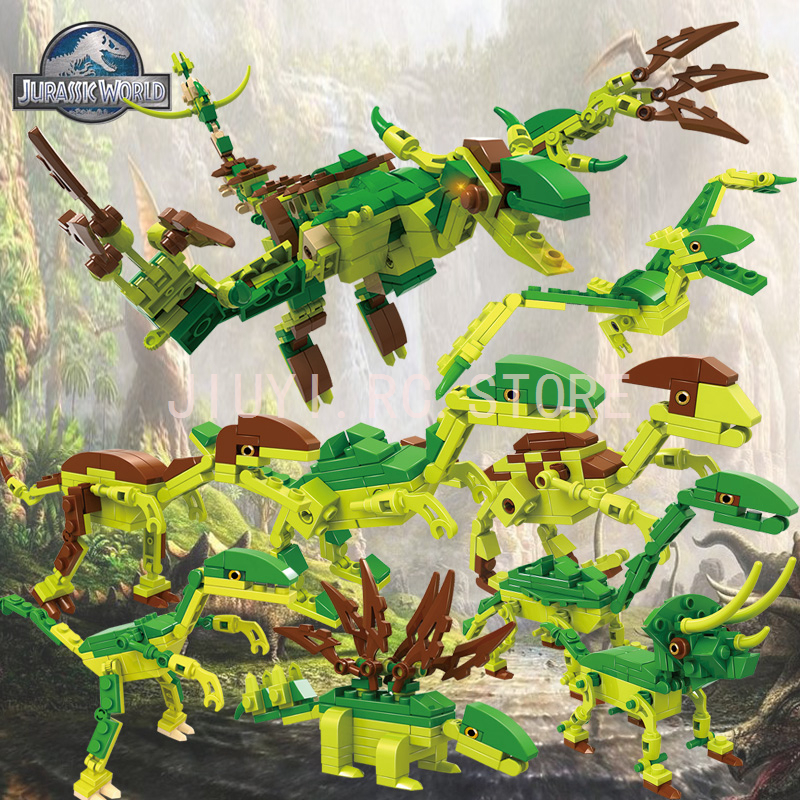 Jurassic Series 8in1 Transformed Dinosaur Series Puzzle Toy For Kids Compatible Legos COGO13008