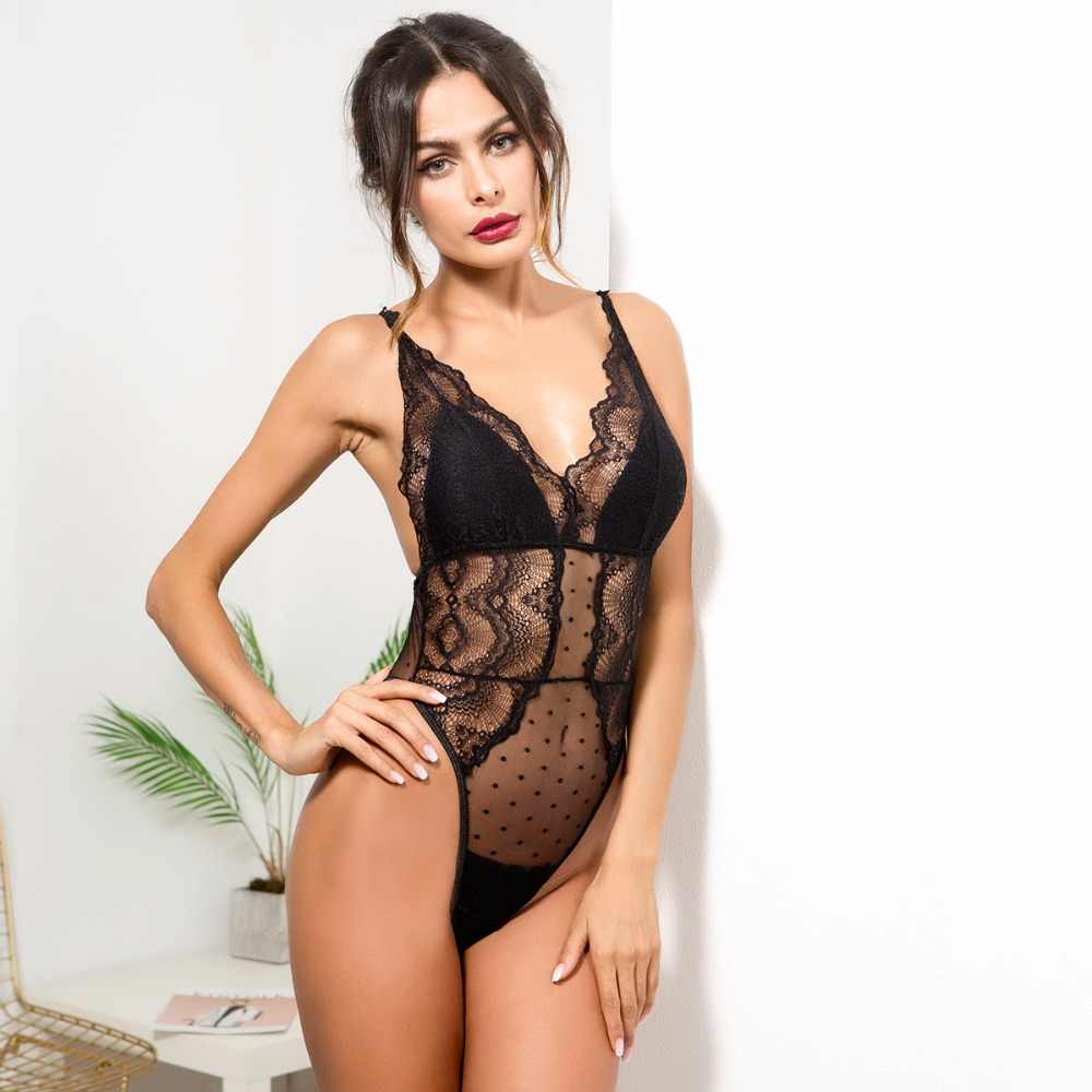eb42919e1c Sexy Embroidery Floral Skinny Lace Bodysuits Strap Catsuit Bodysuits Slim  Overalls Women Sexy Slim Sleeveless Bodysuit