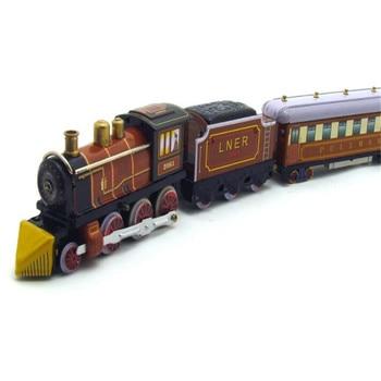 Vintage Retrò Collezione treni giocattoli di Latta Classico Clockwork Wind Up veicolo di trasporto di Latta Giocattolo Per I Bambini di Età Da Collezione Regalo 1