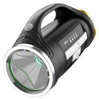 Светодиодный ДАЛЬНОБОЙНЫЙ фонарь USB Перезаряжаемые 500 м 15/30 часов на открытом воздухе фонарик для охоты кемпинг Пеший Туризм обрушения