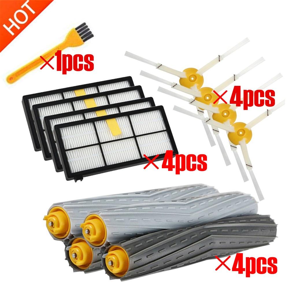 13 unids/lote filtros HEPA cepillos piezas de repuesto Kit para iRobot Roomba 980, 990, 900, 896, 886, 870, 865, 866, 800 kit de accesorios