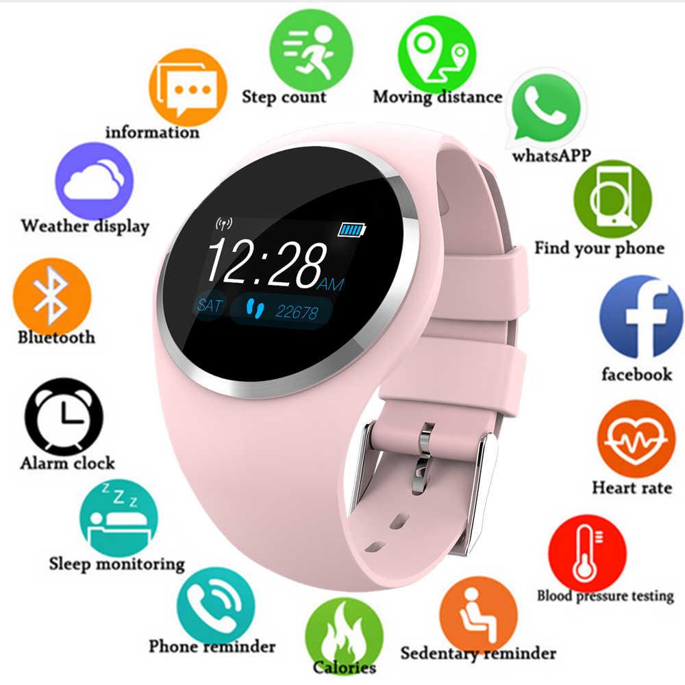 dd2de1e19ed0 Reloj inteligente de los hombres y las mujeres de sangre Bluetooth Monitor  podómetro mujer Fitness inteligente reloj deportivo para Android iOS