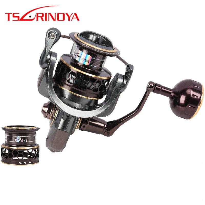 TSURINOYA Jaguar 4000 5000 moulinet de pêche moulinet de pêche leurre moulinet de pêche en eau salée Double bobine 9 + 1 roulement à billes