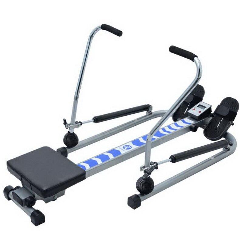 Rowing machine hydraulic resistance