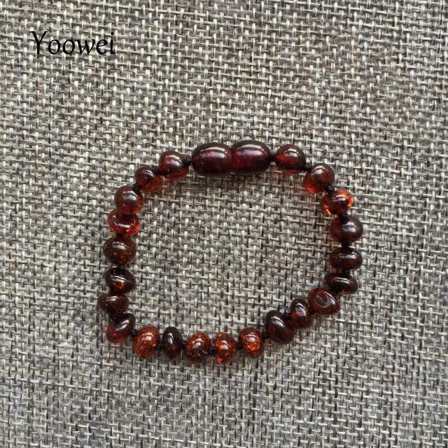 Yoowei Baby Teething Amber Bracelet for Boys Girl Best Women Ladies Gift Natural Baltic Amber Jewelry Adult Anklet Sizes 13-23cm 1