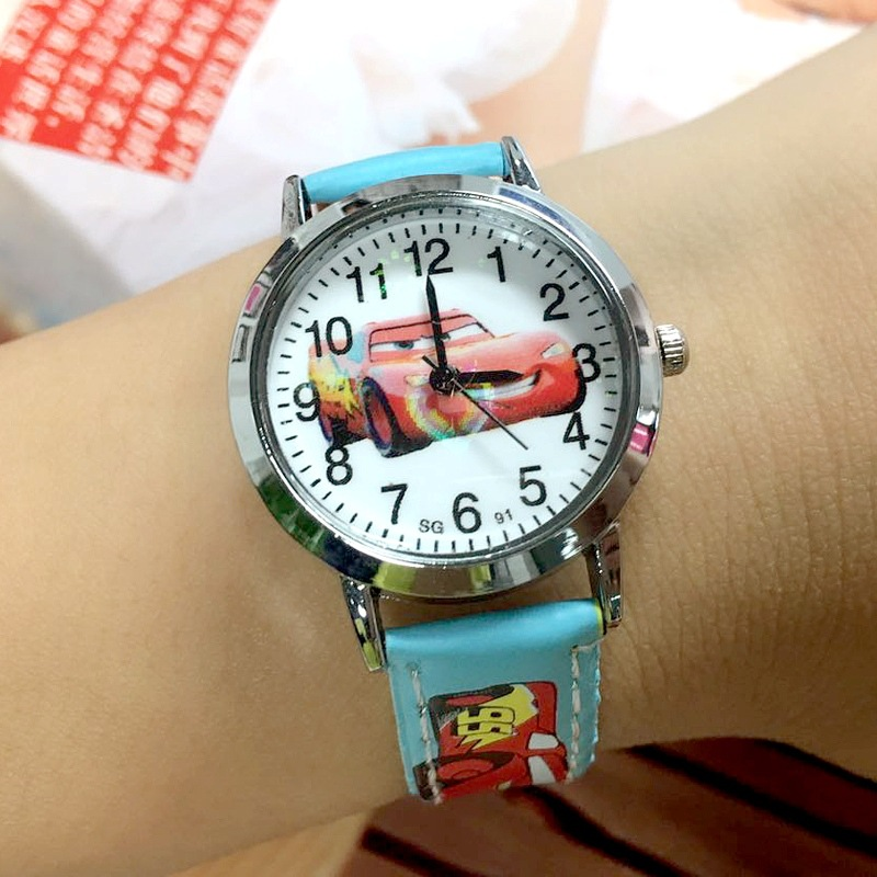 Wholesale Hot Boys And Girls Cartoon Children Watch Car Story Belt Quartz Primary School Students Watch Explosion Models