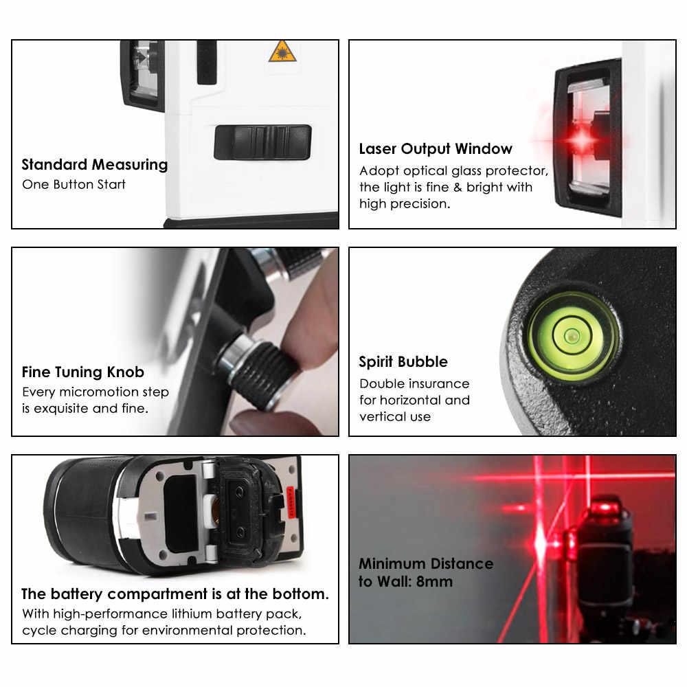 3D 12 линий лазерный уровень самонивелирующийся 360 горизонтальный и вертикальный крест Lazer Nivel уровень красный зеленый лазерный луч линия