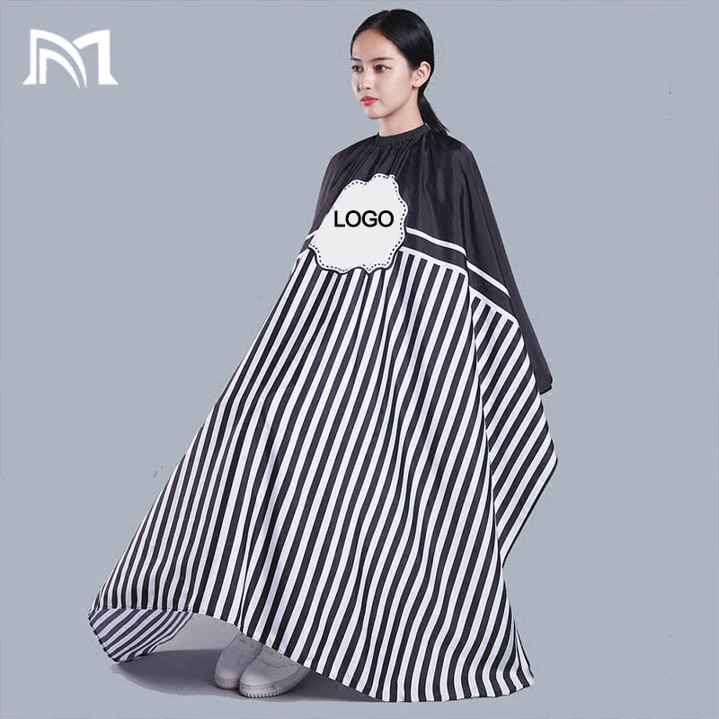 Купить с кэшбэком Customizable logo blank  140*160CM Hairdresser Capes Salon Barber Cutting Hair Waterproof Cloth BarberHairdresser Hair Dress