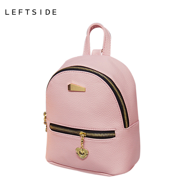 LEFTSIDE 2016 new shoulder bag mini backpacks women leather school bag women's Casual style backpack purses bags for teenagers