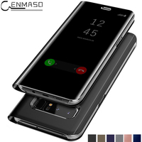 CENMASO Original For Samsung Galaxy S8 Official Case Clear Mirror View Smart Cover Phone Cover S