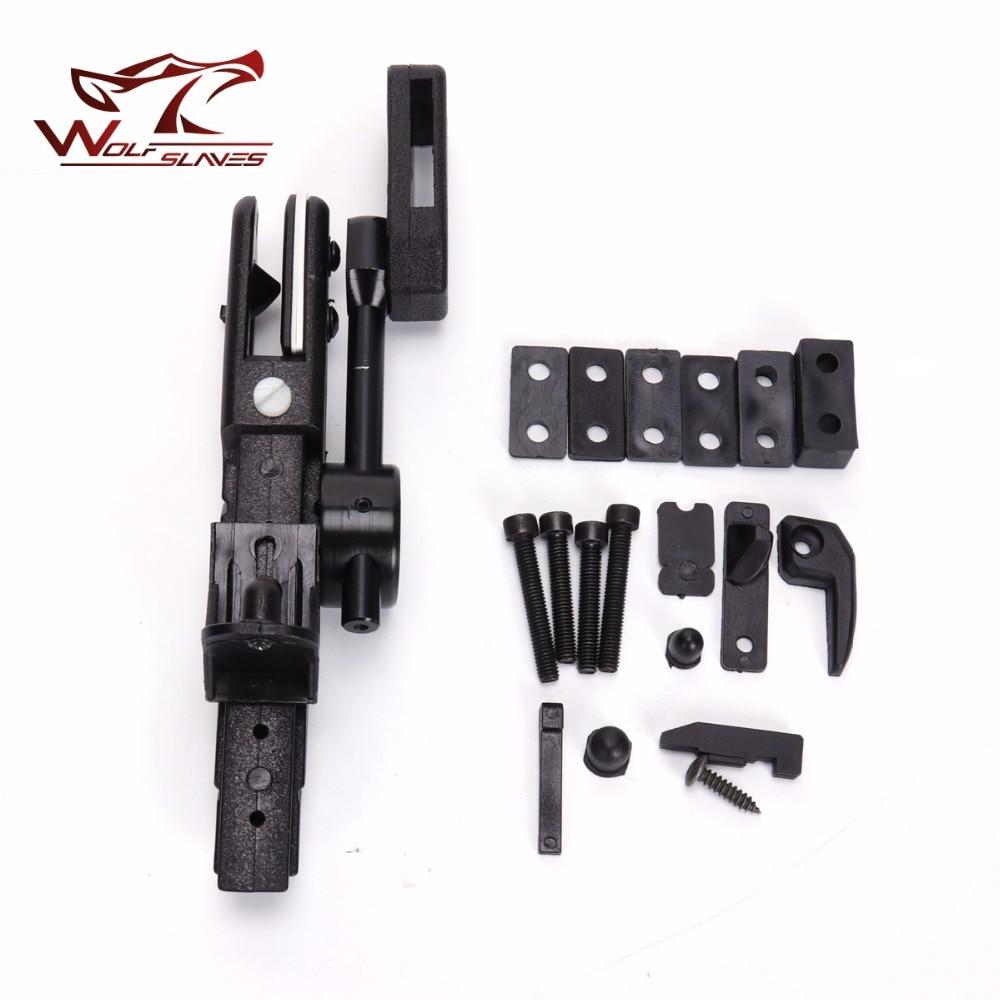 Wolfslaves IPSC Quick Shoot Holster Tactique pistolet pistolet holstor Noir ABS En Plastique poche Extérieure Chasse Accessoires