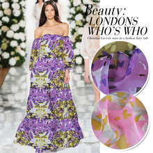 1 meter printed silk chiffon fabric for sewing 6 mm pure mulberry fabrics tissu quilting patchwork cloth bop DIY tulle