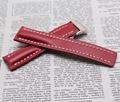 Venda quente Handmade Genuíno Relógio Pulseira de Couro Do Couro de Alta Qualty Vermelho Straps 22mm Pulseira fivela dobrável