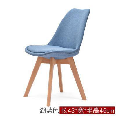 Простой современный домашний стул для столовой задний офисный стул креативный твердый деревянный Северный стул - Цвет: 7
