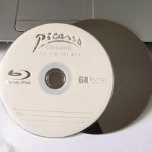 Wholesale 10 discs A+ Picasso 6x 25GB Blank Printed Blu Ray BD-R Disks(China)
