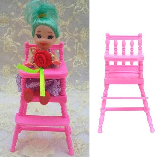 Casa de muñecas Rosa bebé vivero silla comedor Muebles juguete del ...