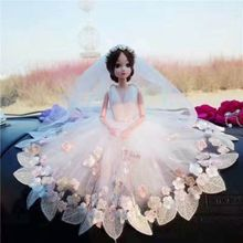 Doll+Dress + Veil/Luxury Lace Big White Bride Wedding Party Gown Fashion Outfit Clothing Accessories For Kurhn Barbi 022001 handmade pure white wedding gown with sequin copy pearl beads gorgeous dress limited edition clothes for barbie doll kurhn fr