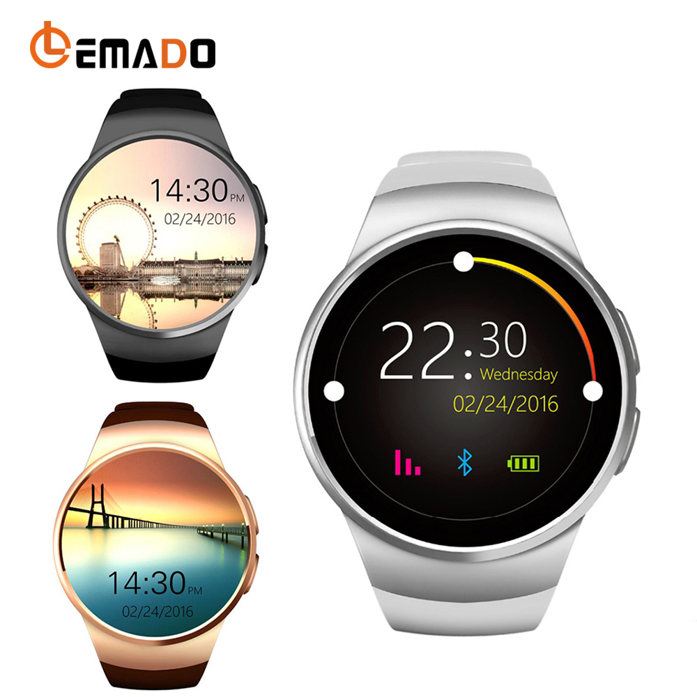 Lemado KW18 Smart Watch phone Support SIM TF Card Heart Rate Monitor MTK2502 smartwatch for apple