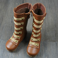 Genuine leather Girls snow boots girls shoes Fashion Roman kids Rain boots rivet First Walkers children Boots