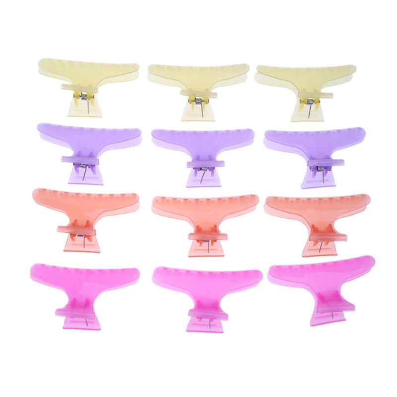 12pcs/Set Hair Clips Professional Salon Hairdressing Butterfly Hair Claw Section Hairpin Styling Hair Care Hairdresser Tolls