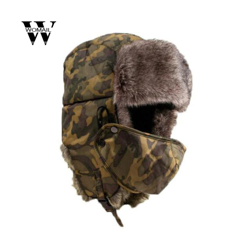 Soft Waterproof Unisex Camouflage Winter Hat Wind Mask Cold-proof Rimq Outdoor Several Wear Methods Hat Warm HOT Sales