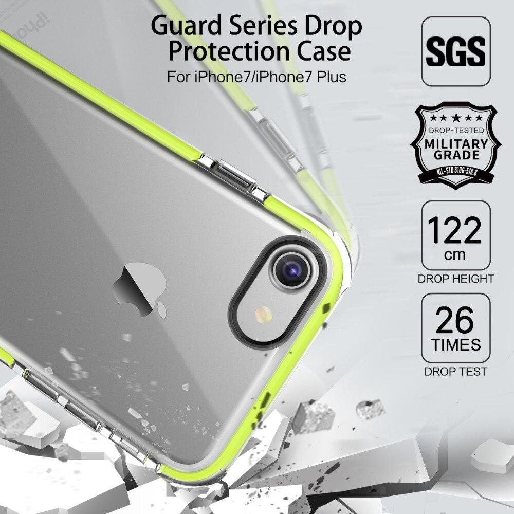 ROCK US Army Drop standard phone case for iPhone 7 7 Plus Guard Soft TPU high