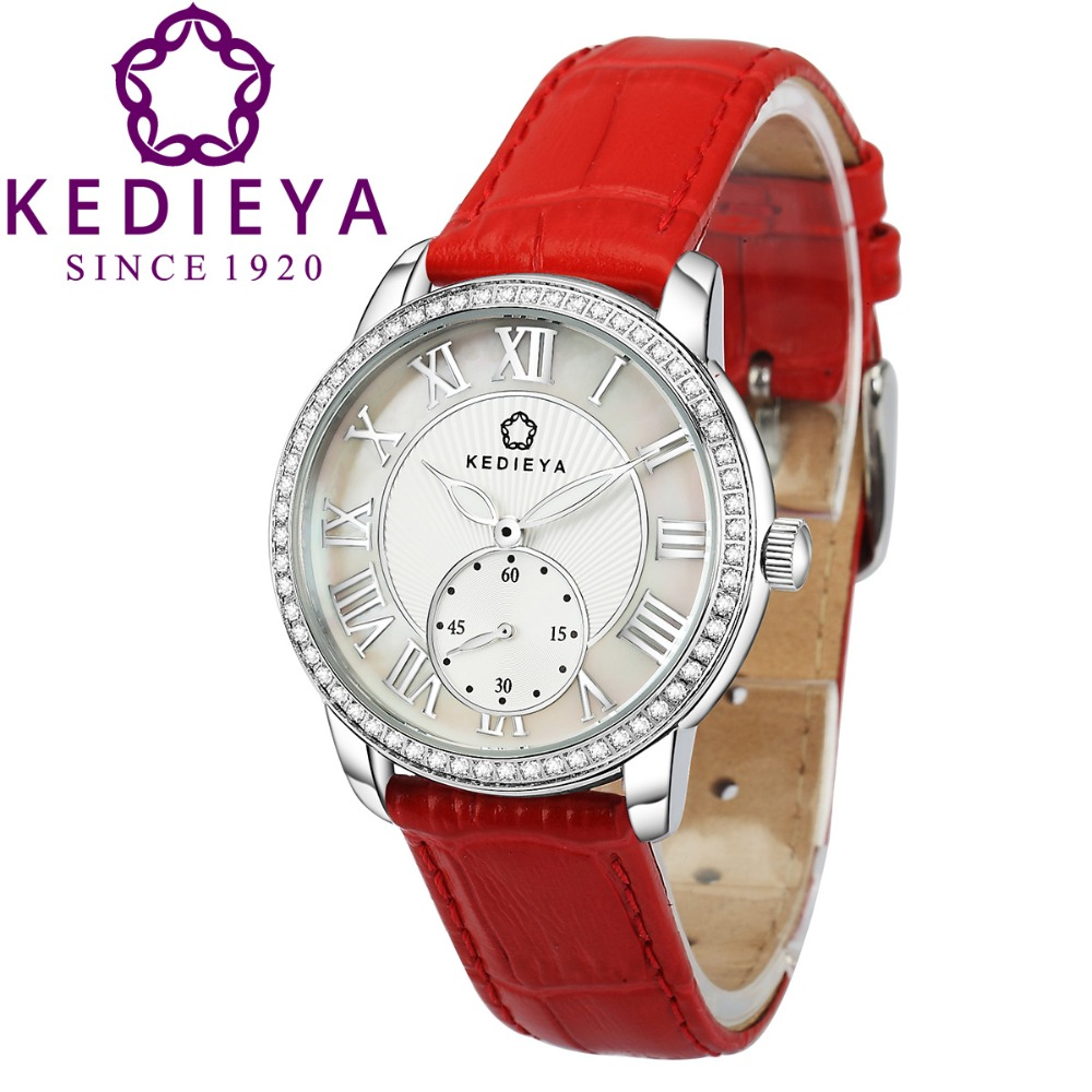 Kedieya brands watches classic roma watches women diamond second dial designer miyota quartz for Watches brands for girl