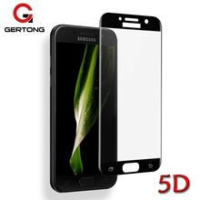 GerTong 5D Full Cover Protective Glass for Samsung Galaxy A3 2017 A5 A7 Screen Protector Tempered Glass Film for Samsung A5 2017