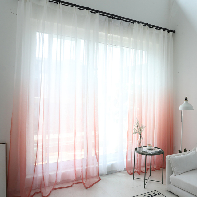 Tulle Curtains 3D Printed Window Decorations