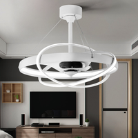 LED Negative Ion Invisible Ceiling Fan Light Personality Creative Living Room Dining Room with Fan with Light