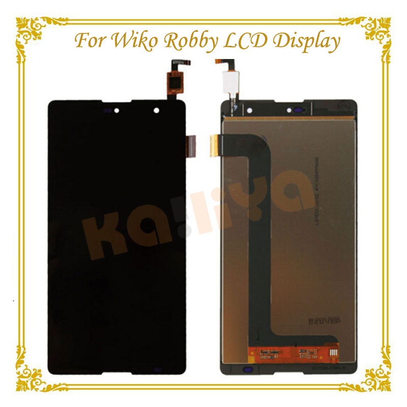 High Quality Black Touch Screen For Wiko Robby Digitizer Panel Sensor Glass Lens +LCD Display Smartphone Assembly  high quality for fly iq4417 touch screen lcd assembly digitizer sensor front glass lens panel free shipping black white