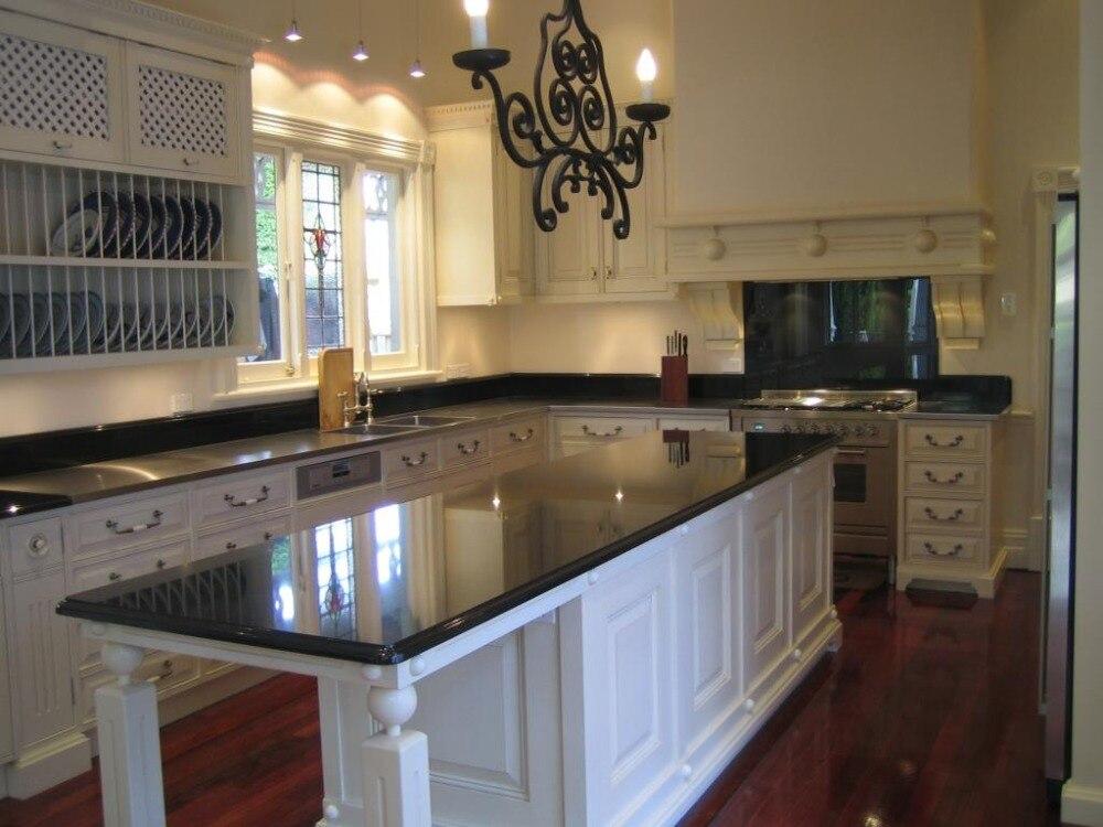 Cocina Americana muebles de madera con estante para platos en ...