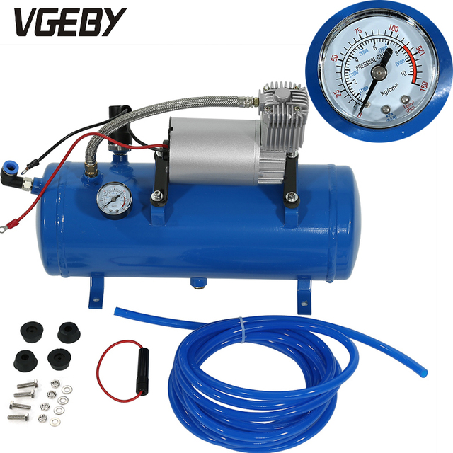 VGEBY 150psi 12V Mini Electric Air Compressor with 6 Liter Tank Tyre Inflator Pump