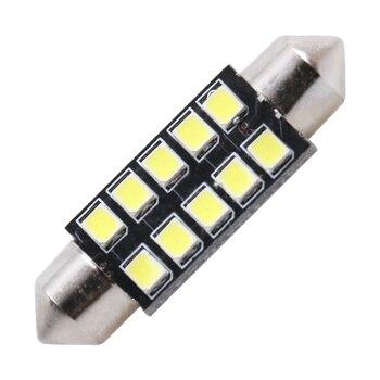 1 pc FESTOON 31mm 36mm 39mm 42mm voiture LED ampoule C5W CANBUS pas d'erreur voiture dôme lumière Auto intérieur lampe DC12V blanc glace bleu rose